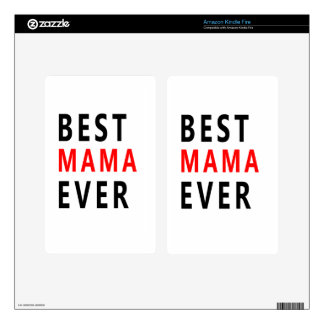 Best Mama Ever(3) Decals For Kindle Fire
