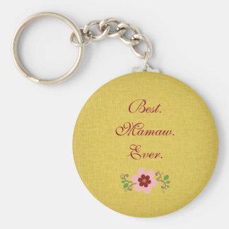 Best Mamaw Ever Basic Round Button Keychain