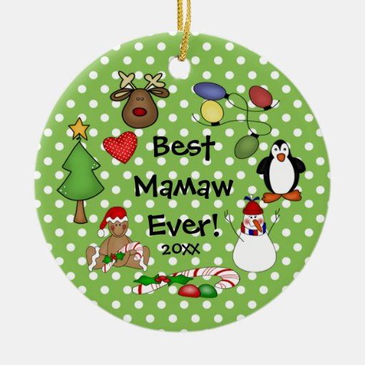 Best Mamaw Ever Christmas Ornament | Zazzle
