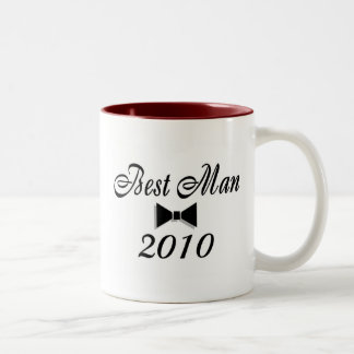 Best Man 2010 Two-Tone Coffee Mug