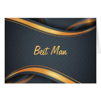 Best Man (b/g) Card