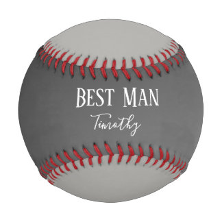 Best Man Black and Gray Baseball