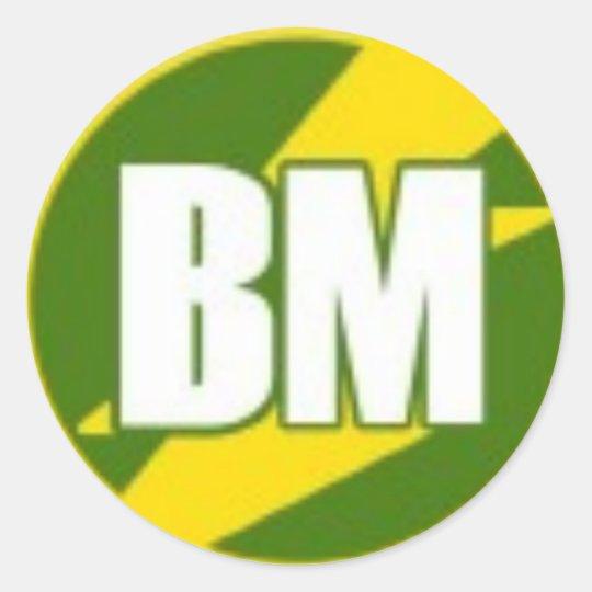 Best Man (BM) Classic Round Sticker
