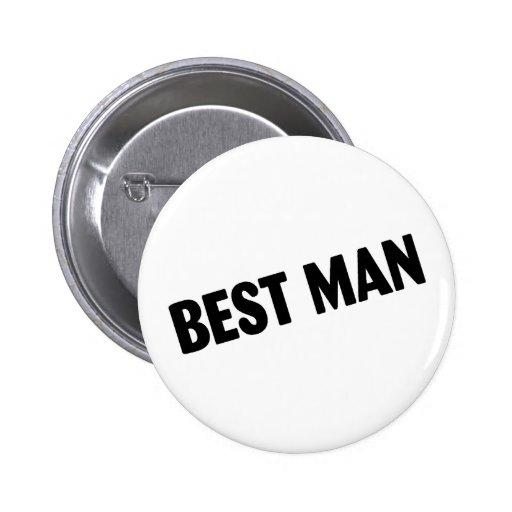 Best Man Bold Black Buttons