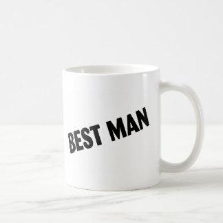 Best Man Bold Black Coffee Mug