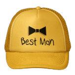 Best Man Bow Tie Mesh Hats