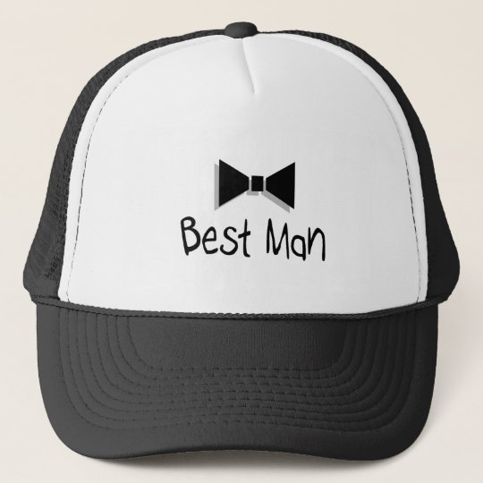 Best Man Bow Tie Trucker Hat
