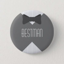 Best Man Bowtie Pinback Button