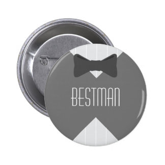Best Man Bowtie Pinback Button