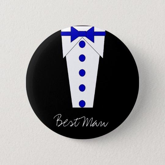 Best Man Button (Blue)