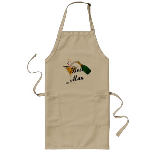 Best Man Champagne Toast Aprons