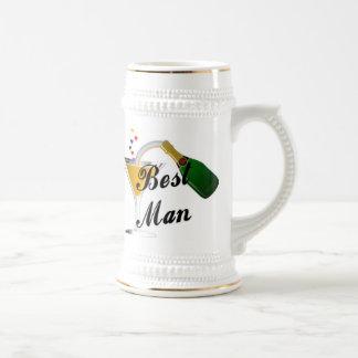 Best Man Champagne Toast Beer Stein