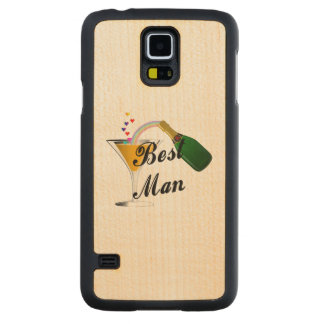 Best Man Champagne Toast Carved Maple Galaxy S5 Slim Case