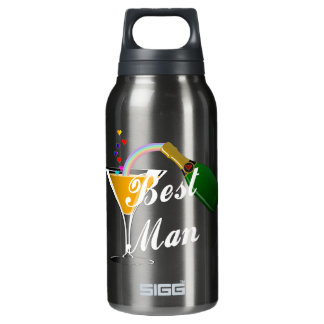 Best Man Champagne Toast Insulated Water Bottle