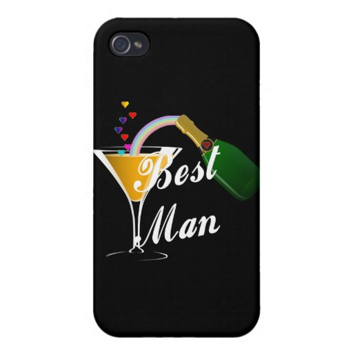Best Man Champagne Toast iPhone 4/4S Cases