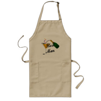 Best Man Champagne Toast Long Apron