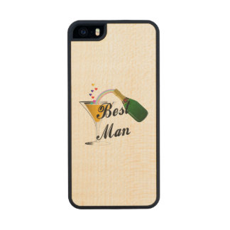 Best Man Champagne Toast Carved® Maple iPhone 5 Slim Case