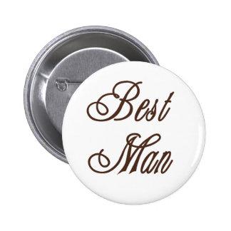 Best Man Classy Browns Pinback Buttons