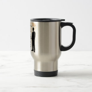 Best Man - Cream Silk Travel Mug