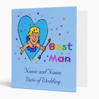 Best Man Cupid 3 Ring Binder