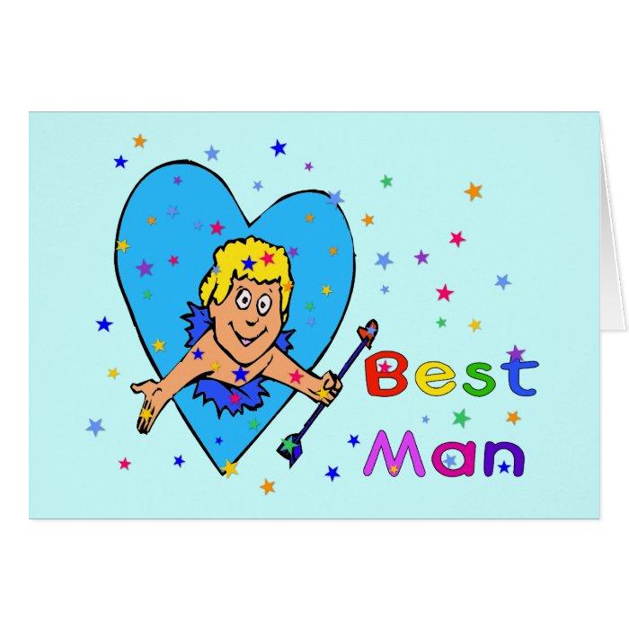 Best Man Cupid Card