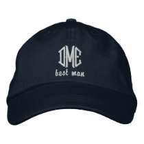 Best Man Custom Wedding Monogram Baseball Cap