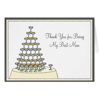 Best Man Funny Thank You Card - Toasting