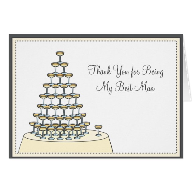 Best Man Funny Thank You Card - Toasting | Zazzle