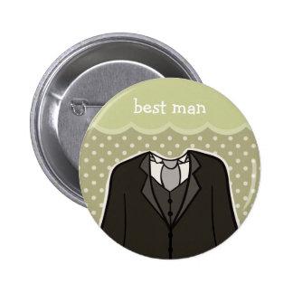 Best Man // GREEN Pinback Button