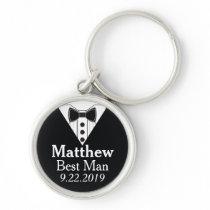 Best Man Groomsmen Wedding Keychain