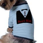 Best Man In Tux Dog Tee