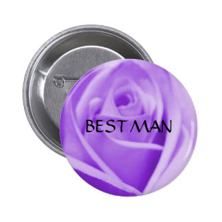 BEST MAN - lavender rose button