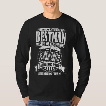 Wedding Themed Best Man Master of Ceremonies Groom Bachelor Party T-Shirt