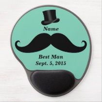 Best Man Mustache and Top Hat Gel Mousepad