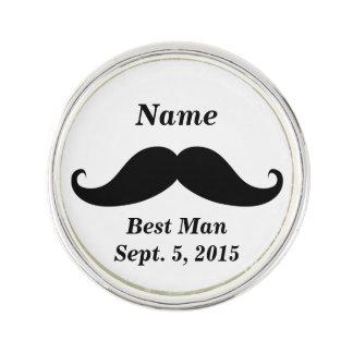 Best Man Mustache Lapel Pin