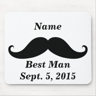 Best Man Mustache Mousepad