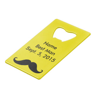 Best Man Mustache & Suit Credit Card Bottle Opener