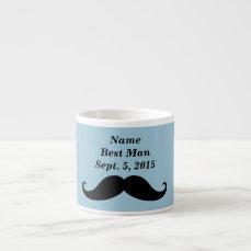Best Man Mustache, Top Hat and Suit Espresso Mug