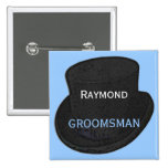 Best Man Name Tag Button
