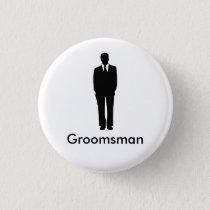 Best Man or Groomsman Button