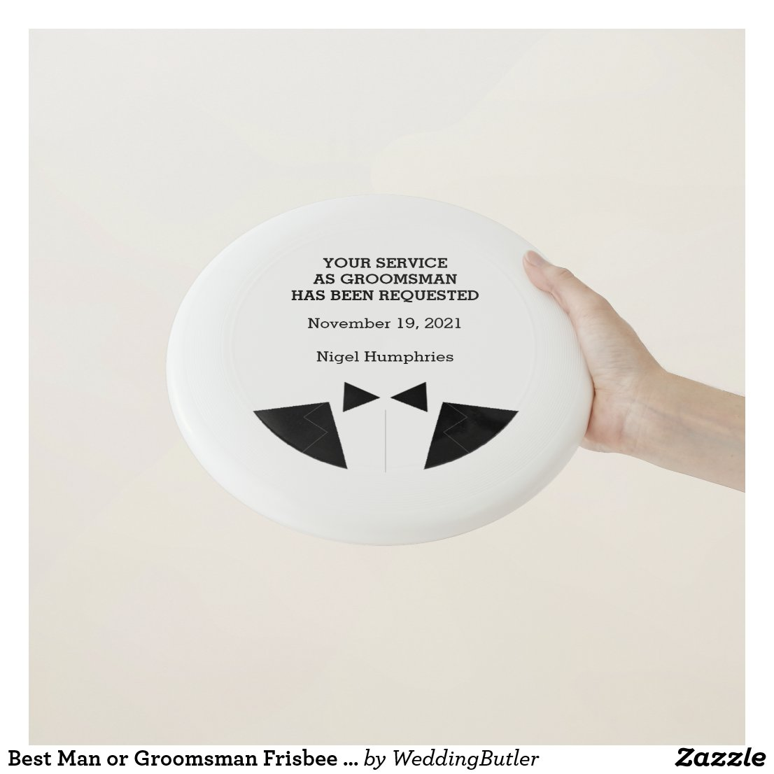 Best Man or Groomsman Frisbee Invite