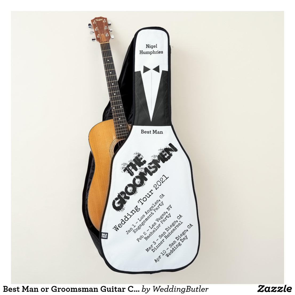 Best Man or Groomsman Guitar Case Invite