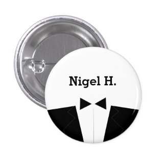 Best Man or Groomsman ID Button