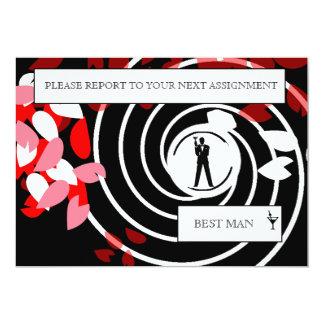 Best Man or Groomsman Invite Card
