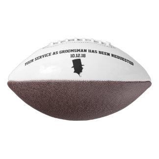 Best Man or Groomsman Invite Football