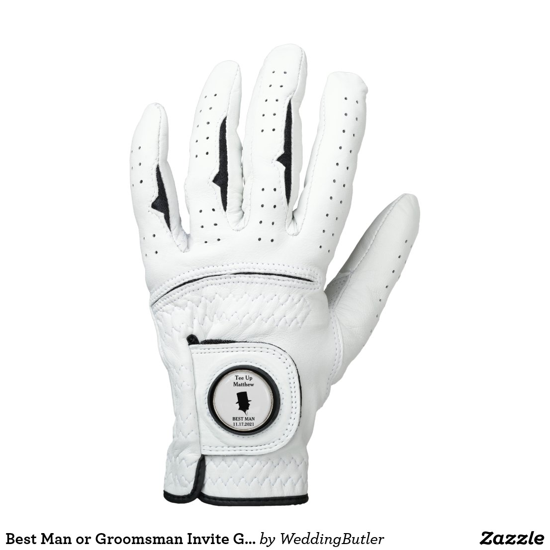 Best Man or Groomsman Invite Golf Glove