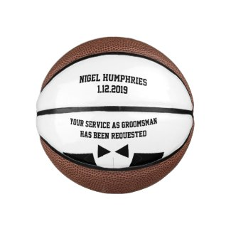 Best Man or Groomsman Invite Mini Basketball