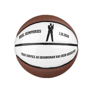 Best Man or Groomsman Invite Mini Basketball