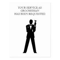 Best Man or Groomsman Postcard Invite