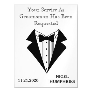 Best Man or Groomsman Reminder Magnetic Card